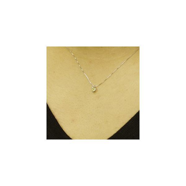 ホワイトゴールド 誕生石 ネックレス 8月 ペリドット ダイヤモンド ペンダント K10WG 幸せをはこぶ誕生石  記念日 誕生日|j-kimura|02