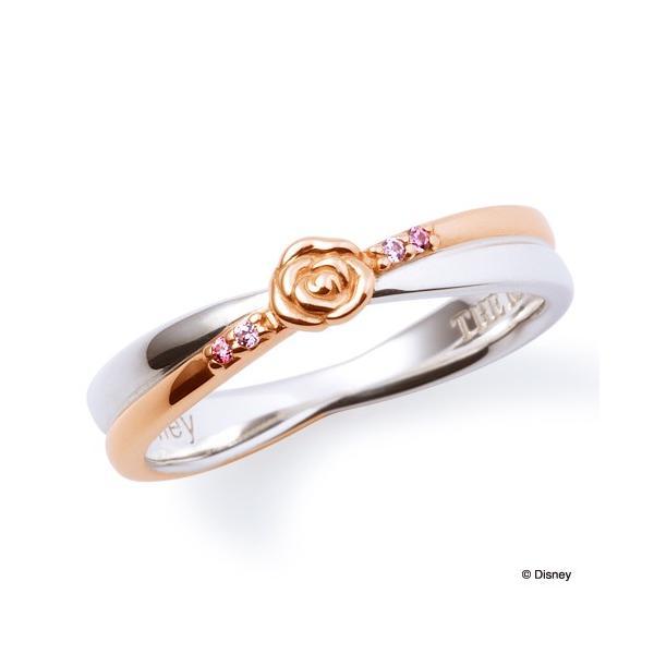ペアリング  ディズニー プリンセス ベル 指輪 THE KISS シルバー レディース販売 SV925製 キュービックジルコニア