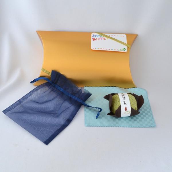 父の日父プレゼントお手軽ギフトお磨きクロスポーチ和菓子風ハンカチセットプレゼントプレゼント