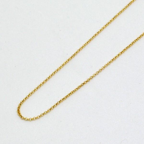 丸アズキ ネックレス チェーン K18 40cm 彼女 誕生日 ジュエリー アクセサリー  プレゼント