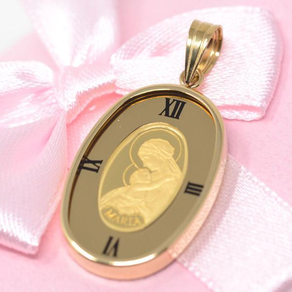 コイン 聖母 マリア 24金 K24 純金 枠18金 K18 メンズ ゴールド 男性 プレゼント ギフト