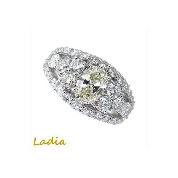 ダイヤモンド オーバルカット リング Pt900 プラチナ 1.029ct Lカラー SI-1 中央宝石研究所鑑定書