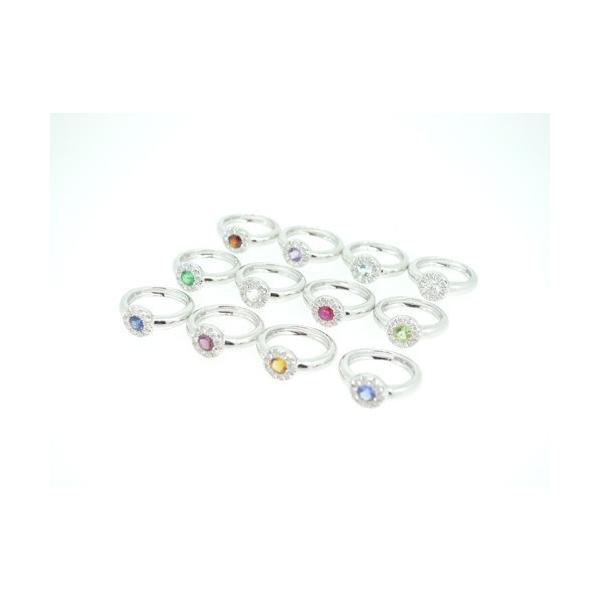 Baby Ring1月 K18WG ガーネットとダイヤのベビーリング(ネックレス、保証書、箱付き)|j-lumiere|03