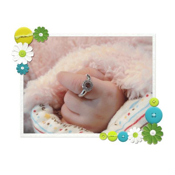 Baby Ring3月 K18WG アクアマリンとダイヤのベビーリング(ネックレス、保証書、箱付き)|j-lumiere|06