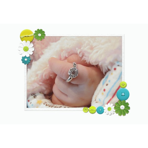 Baby Ring4月 K18WG ダイヤモンドのベビーリング(ネックレス、保証書、箱付き)|j-lumiere|06