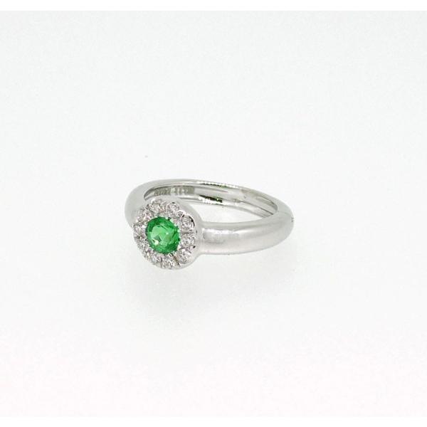 Baby Ring5月 K18WG エメラルドとダイヤのベビーリング(ネックレス、保証書、箱付き)|j-lumiere|02