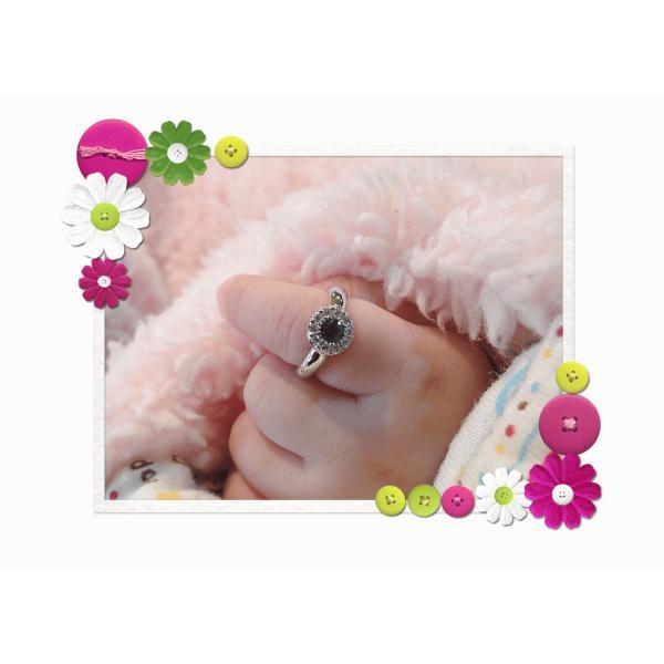 Baby Ring5月 K18WG エメラルドとダイヤのベビーリング(ネックレス、保証書、箱付き)|j-lumiere|06
