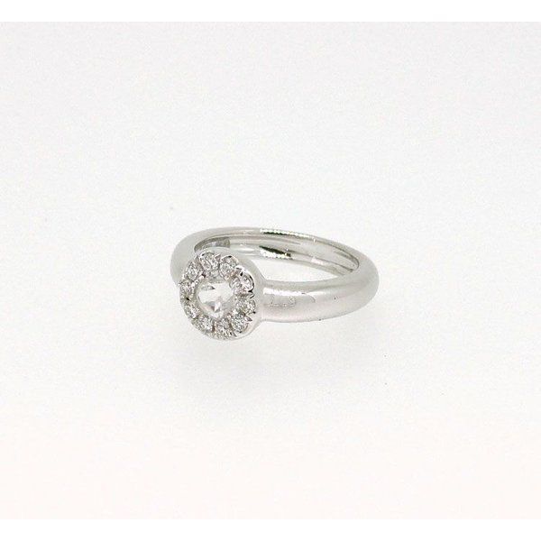 Baby Ring6月 K18WG ムーンストーンとダイヤのベビーリング(ネックレス、保証書、箱付き)|j-lumiere|02