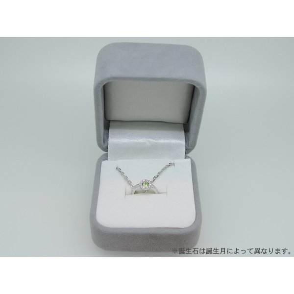 Baby Ring6月 K18WG ムーンストーンとダイヤのベビーリング(ネックレス、保証書、箱付き)|j-lumiere|04