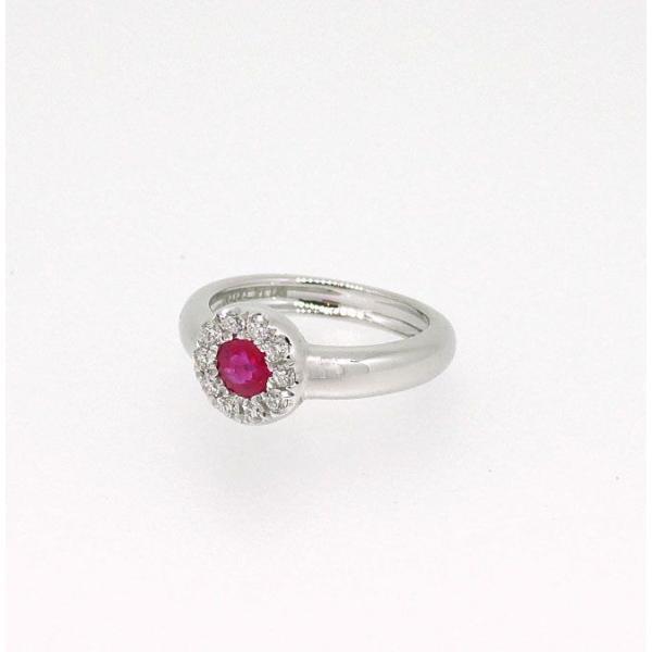 Baby Ring7月 K18WG ルビーとダイヤのベビーリング(ネックレス、保証書、箱付き)|j-lumiere|02