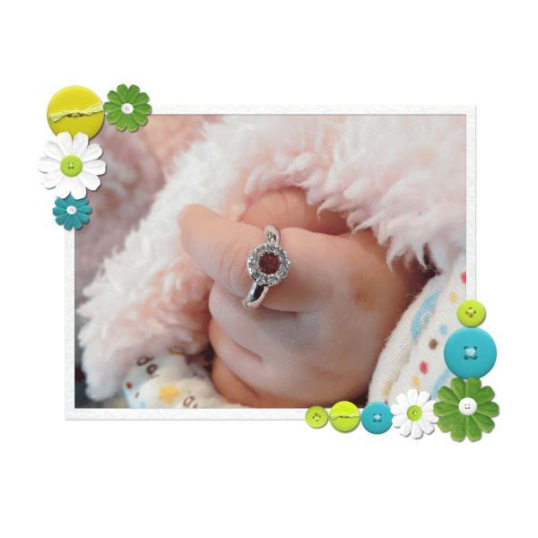 Baby Ring7月 K18WG ルビーとダイヤのベビーリング(ネックレス、保証書、箱付き)|j-lumiere|06