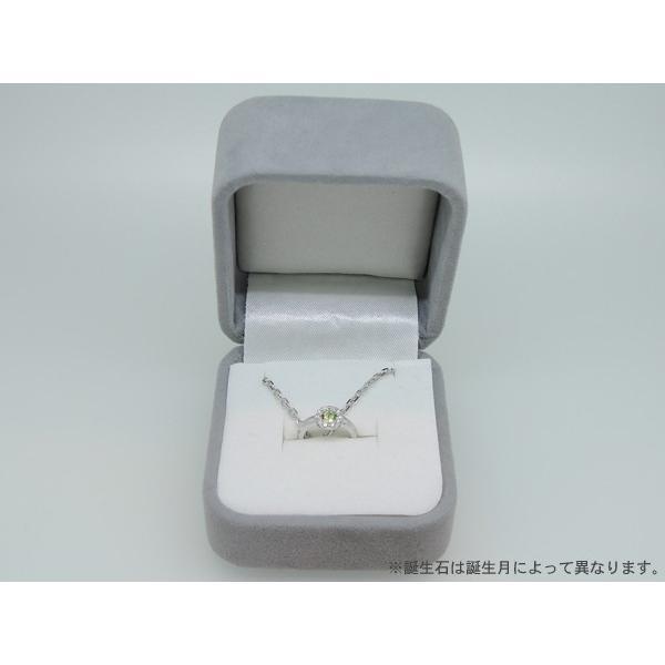 Baby Ring8月 K18WG ペリドットとダイヤのベビーリング(ネックレス、保証書、箱付き)|j-lumiere|04