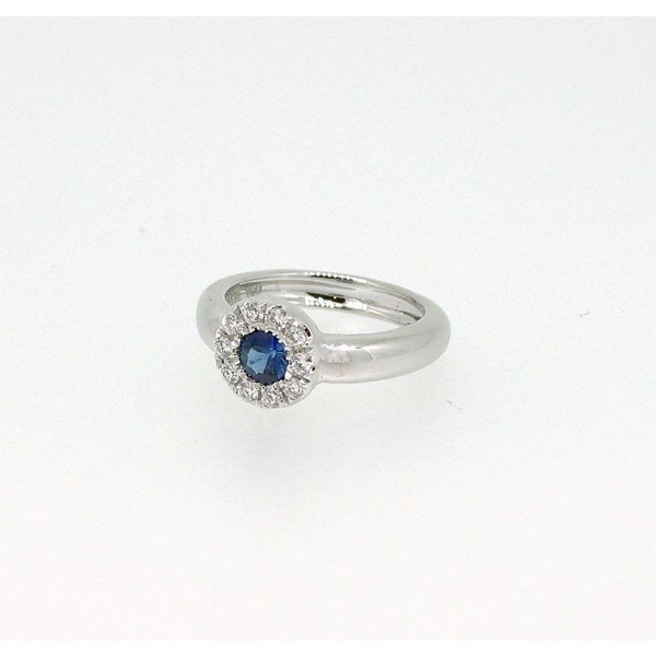 Baby Ring9月 K18WG サファイアとダイヤのベビーリング(ネックレス、保証書、箱付き)|j-lumiere|02