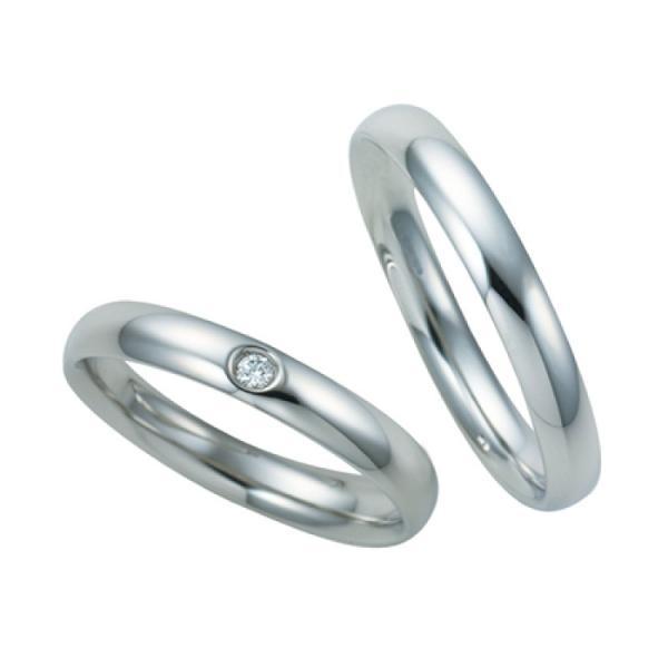 ペアリング 結婚指輪 婚約指輪 プラチナ 指輪 リング シルバー ダイヤモンド 甲丸リング PT900 6〜16号