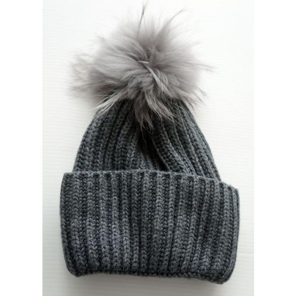 BENELLI ベネッリ ニットキャップ ファーニット 帽子 レディース 114042B