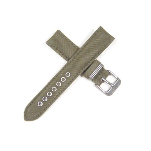 ハミルトン純正ベルト18mm/カーキフィールド33mm用モスグリーンキャンバスベルトH600733101|j-tajima