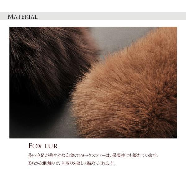 フォックス ファー カラー コート 取り付け用 襟 / レディース|j-white|04