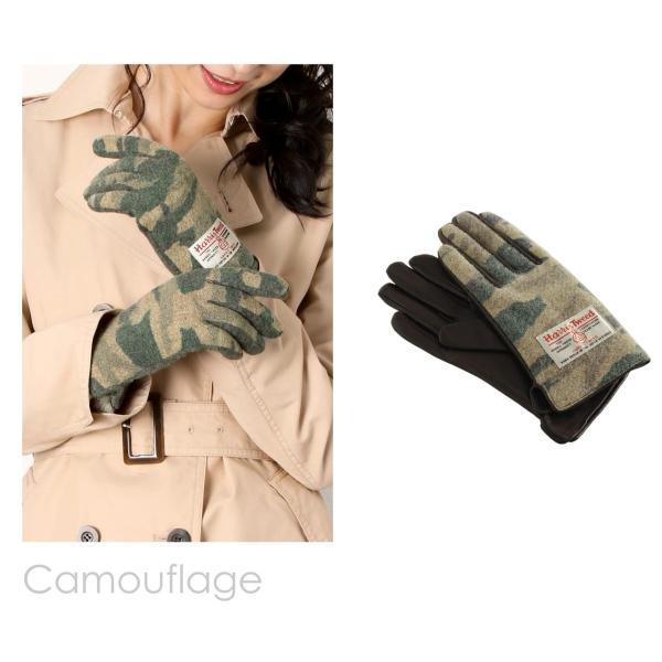 手袋 レディース ラム革 スマホ 対応 グローブ 全7色 ハリスツイード 手ぶくろ [ネコポスで送料無料]|j-white|12