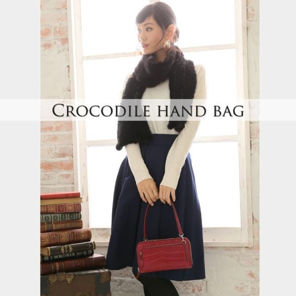 クロコダイルバッグ crocodile マットクロコダイル マルチ バッグ 財布型 3WAY|j-white|10