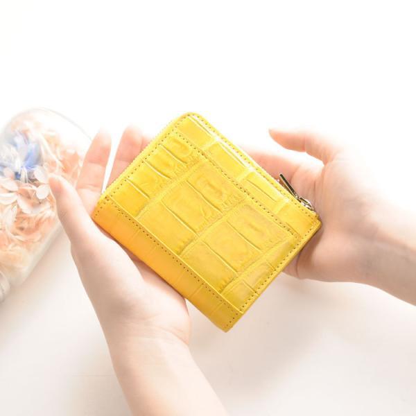 f134bd09c17d クロコダイル ミニ財布 レディース マット加工 L字ファスナー(No.06000763-1)