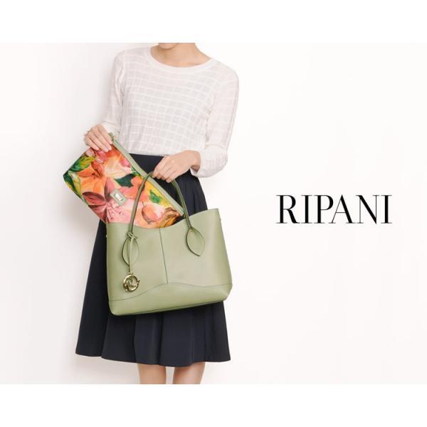 [RIPANI] リパーニ イタリア製 トートバッグ 本革 バッグインバッグ フラワープリント 2WAY / レディース  A4 通勤バッグ|j-white|04