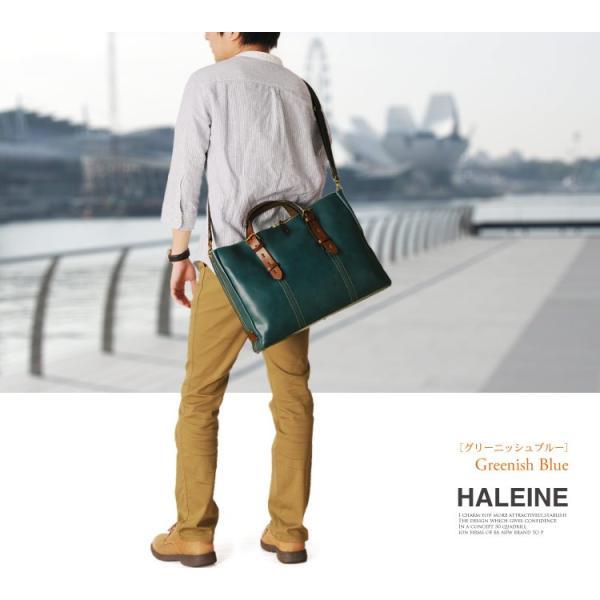 HALEINE[アレンヌ] 牛革 ビジネス バッグ 大 2way 日本製 ヌメ革 ハンドル ステッチ デザイン / メンズ A4 通勤バッグ ブランド ブランド|j-white|19