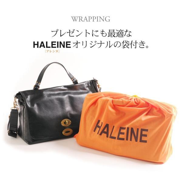 HALEINE [アレンヌ] アンティーク加工 牛革 ショルダーバッグ  日本製 メンズ 革小物 ブランド j-white 12