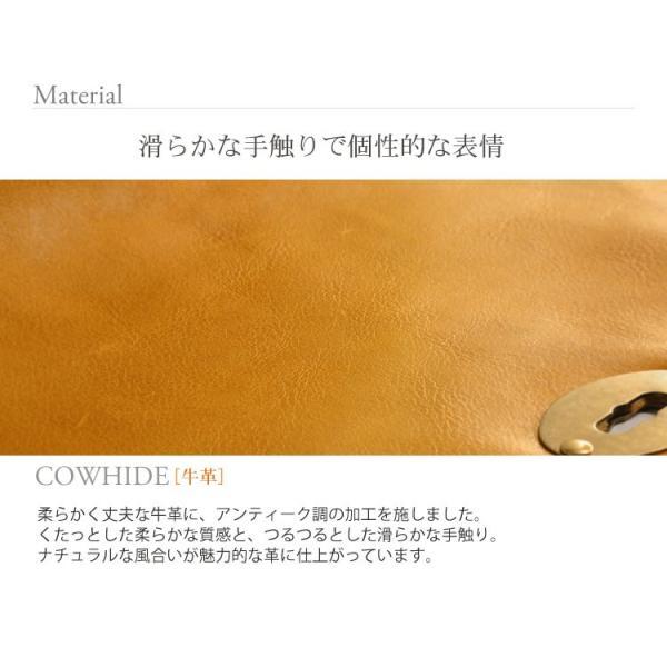 HALEINE [アレンヌ] アンティーク加工 牛革 ショルダーバッグ  日本製 メンズ 革小物 ブランド j-white 04