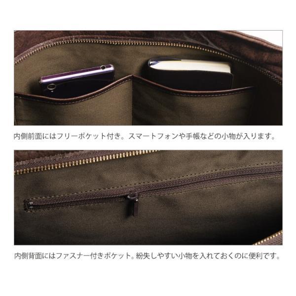 HALEINE [アレンヌ] アンティーク加工 牛革 ショルダーバッグ  日本製 メンズ 革小物 ブランド j-white 06