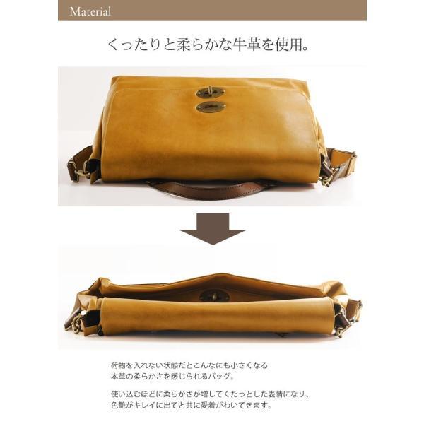 HALEINE [アレンヌ] アンティーク加工 牛革 ショルダーバッグ  日本製 メンズ 革小物 ブランド j-white 09