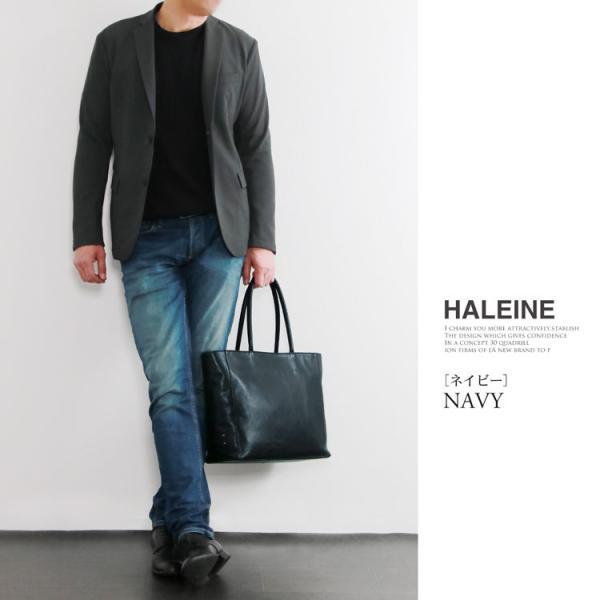 トートバッグ HALEINE [アレンヌ] 日本製 牛革 / ファスナー付き メンズ(No.07000192-mens-1) 革小物 ブランド|j-white|15