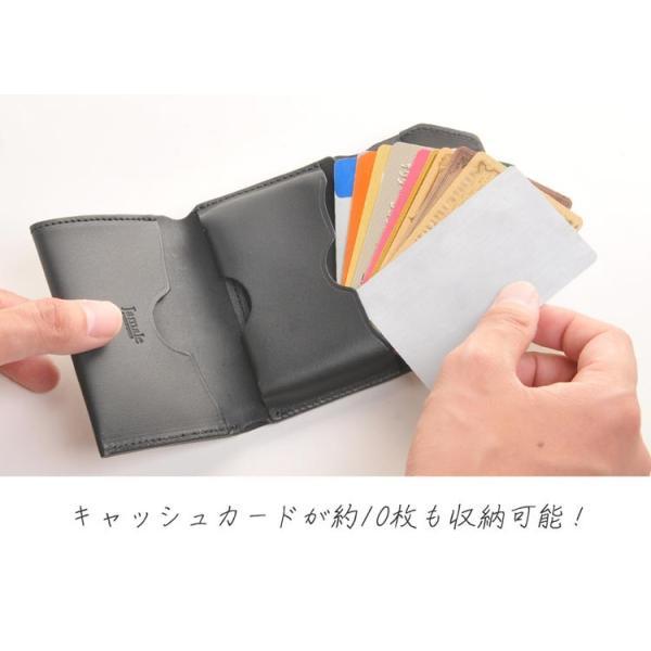 Jamale ジャマレ 日本製 ヌメ革 ミニ財布 コンパクトサイズ レディース(No.07000357)|j-white|05