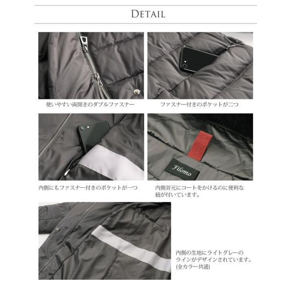 Filomo ダウンコート レディース ファー トリミング ダウン 90% 大きいサイズ フード付き フォックス (No.08000141)|j-white|13