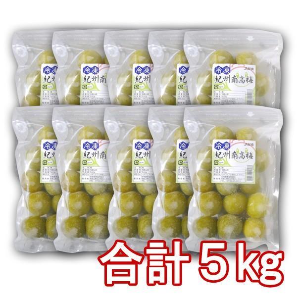 氷梅 冷凍南高梅 梅酒用・梅ジュース用  500g×10袋 計5kg 冷凍梅 和歌山県紀州産青梅