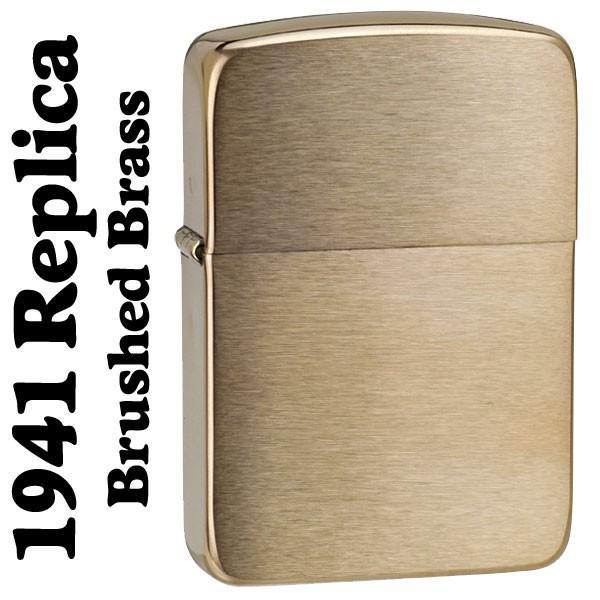 zippo ジッポ ジッポーライター 1941レプリカ ・ブラスサテーナ ZIPPO SOLID BRASS(ネコポス対応)|jackal