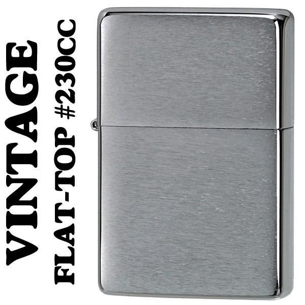 zippo (ジッポーライター) フラットトップビンテージ ・ブラッシュクローム(ライン無し) 1937 #230CC(ネコポス対応)