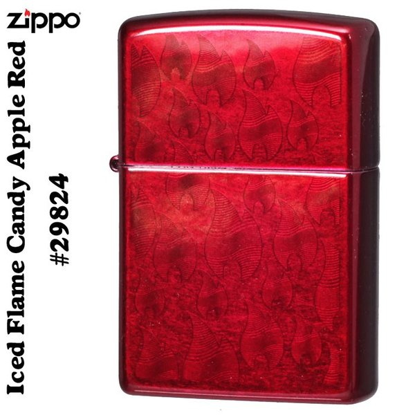 zippo(ジッポーライター) Iced Flame Candy Apple Red  #29824  両面同柄(ネコポスなら全国送料250円)|jackal