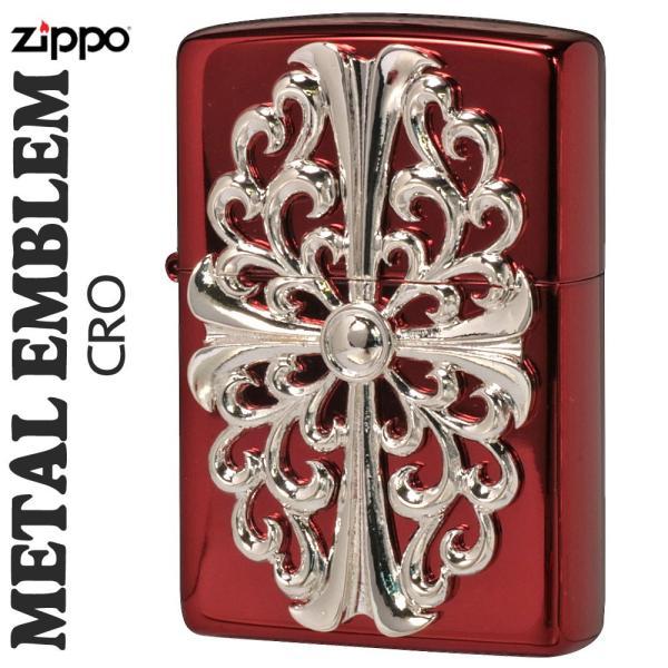 zippo(ジッポーライター)メタルエンブレム レッドイオンコーティング2REDM-CRO送料無料