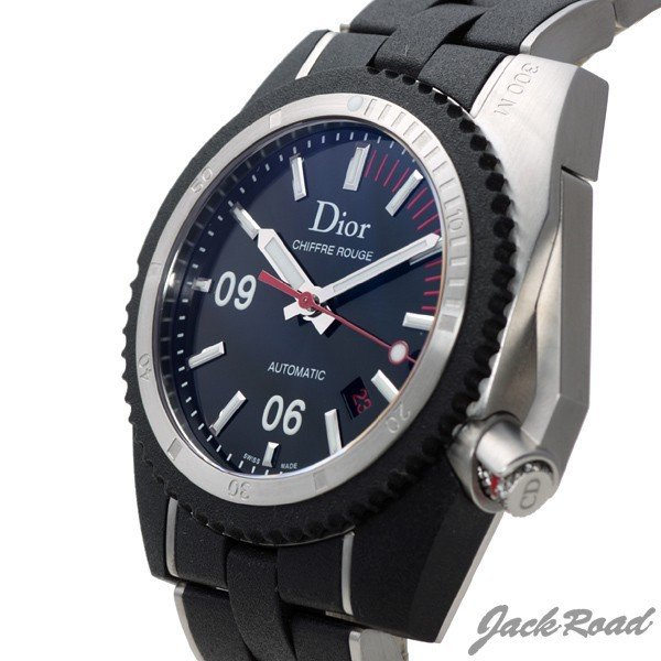 check out a025b 3a607 クリスチャン・ディオール Christian Dior シフルルージュ D02 CD085540 【新品】 時計 メンズ
