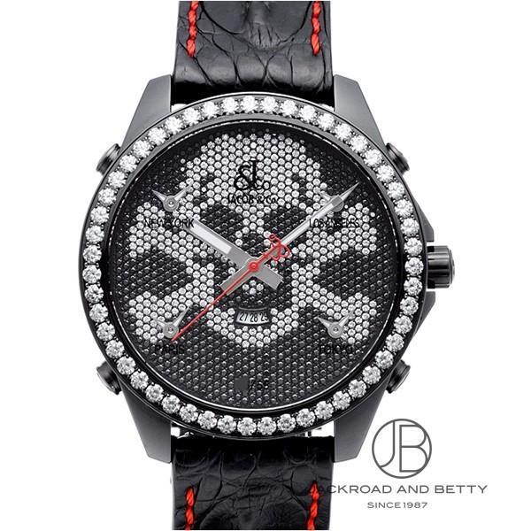 ジェイコブJacob&co5タイムゾーンスカルリミテッドJC-SKULL9D新品時計メンズ