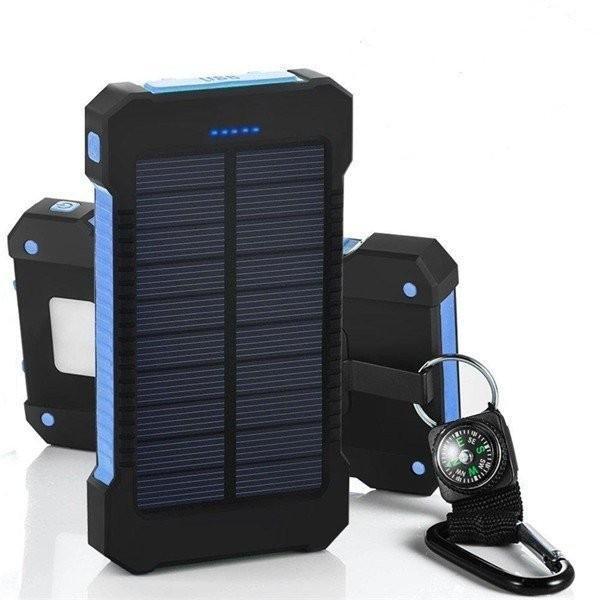 【PSE認証済】充電器 2台同時充電 20000mAh ソーラーパネル モバイルバッテリー スマホチャージャー全機種対応 LED懐中電灯 SOS信号灯付き 防水|jackyled|05