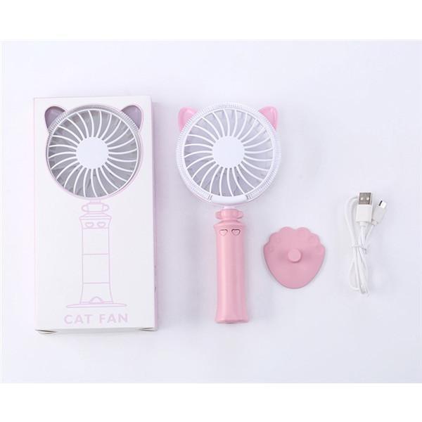 にゃんこ扇風機 ハンディ扇風機 充電 グラデーションライト かわいい アニマル 充電式 電池不要 usb 手持ち 扇風機 卓上 携帯 便利 jackyled 09