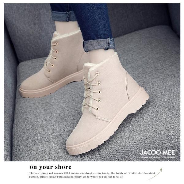 ムートンブーツ レディース ブーツ シューズ ショートブーツ 裏起毛 防寒 フラット レースアップ ボア 暖か 靴 秋 冬 新作 送料無料