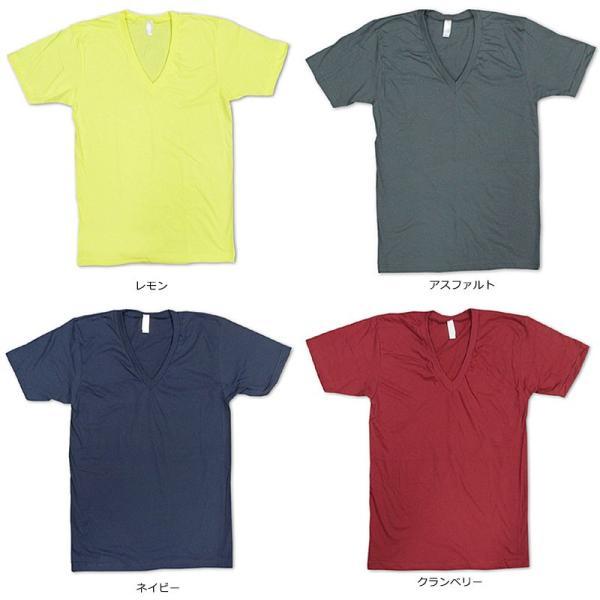 アメリカンアパレル American Apparel #2456 半袖 Tシャツ Vネック (Fine Jersey V-Neck T-Shirt 無地 アメアパ)|jalana|05