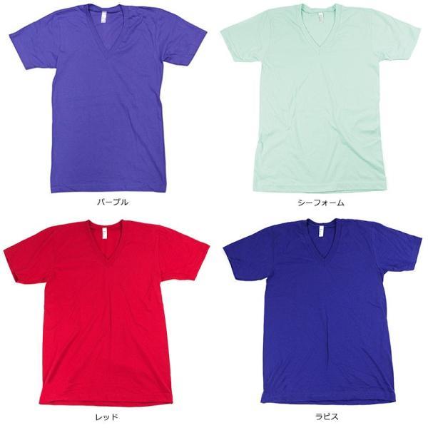 アメリカンアパレル American Apparel #2456 半袖 Tシャツ Vネック (Fine Jersey V-Neck T-Shirt 無地 アメアパ)|jalana|06