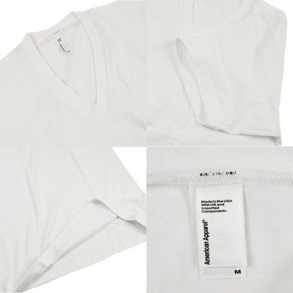 アメリカンアパレル American Apparel #2456 半袖 Tシャツ Vネック (Fine Jersey V-Neck T-Shirt 無地 アメアパ)|jalana|07