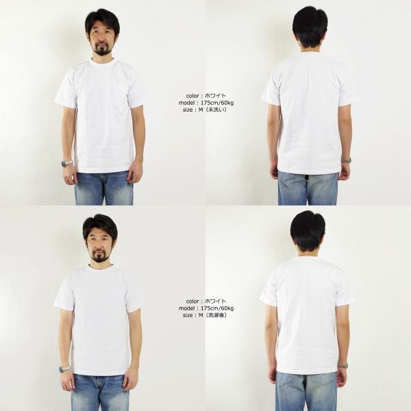 ベイサイド BAYSIDE 3015JAL Jalana別注 7オンス 半袖 ポケット Tシャツ ユニオンメイド ■バンダナサービス■(白Tシャツ 無地 アメリカ製 米国製) jalana 05