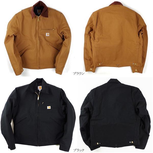 カーハート Carhartt J001 ダック デトロイトジャケット ブランケット裏地 (米国製 アメリカ製 Duck Detroit Jacket ワークジャケット)|jalana|02