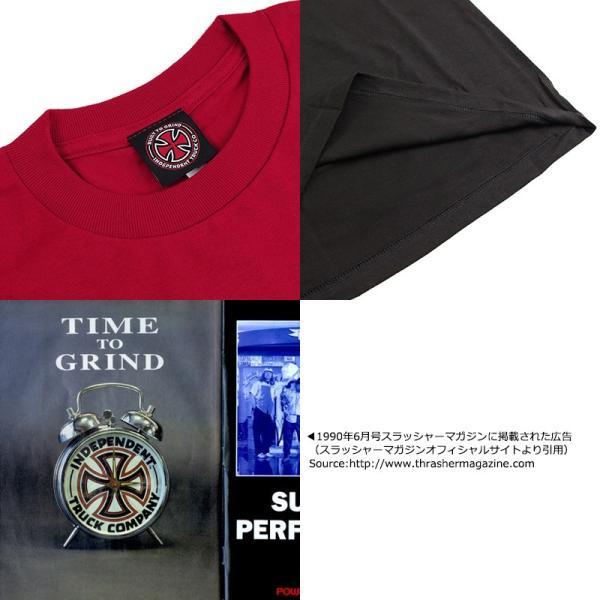 インディペンデント X スラッシャー コラボレート 半袖 Tシャツ タイムトゥグラインド (INDEPENDENT THRASHER Wネーム インディ)|jalana|04