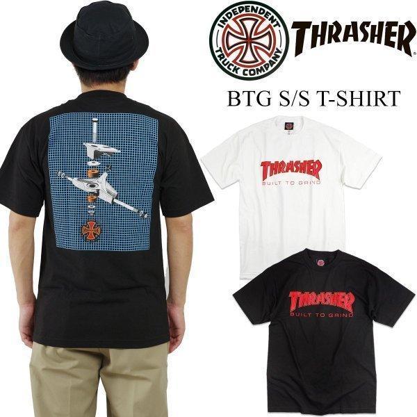 インディペンデント X スラッシャー コラボレート 半袖 Tシャツ ビルドトゥグラインド (BTG INDEPENDENT THRASHER Wネーム インディ)|jalana
